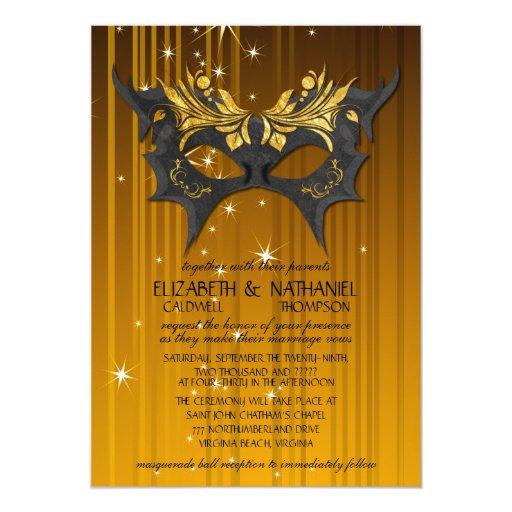 Masquerade Wedding Invitations: Masquerade Ball Wedding Invitation