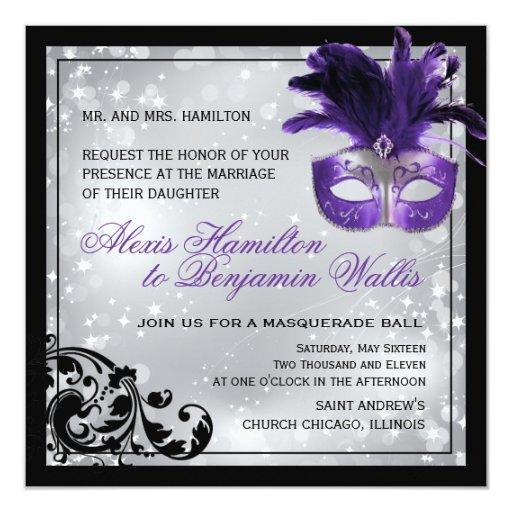 Www Zazzle Com Wedding Invitations: Masquerade Wedding Invitation