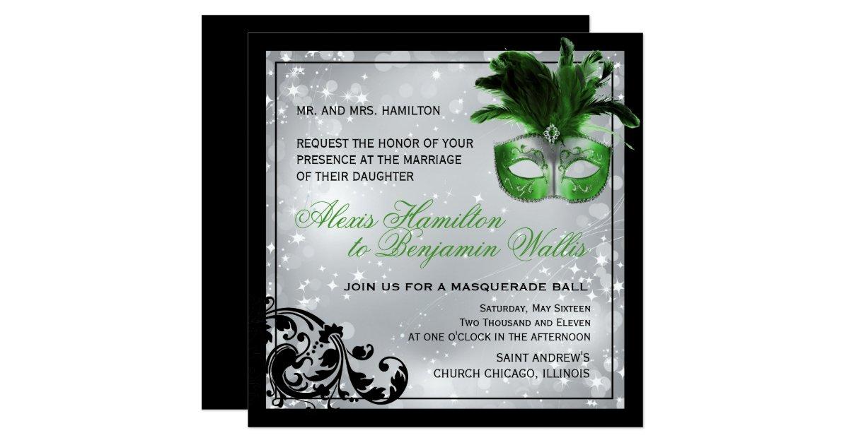 Masquerade Wedding Invitations: Masquerade Wedding Invitation