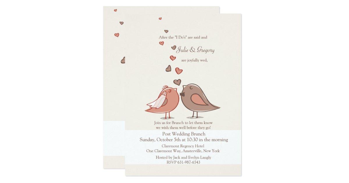 Post Wedding Brunch Invitation Wording: Mated Post Wedding Brunch Invitation
