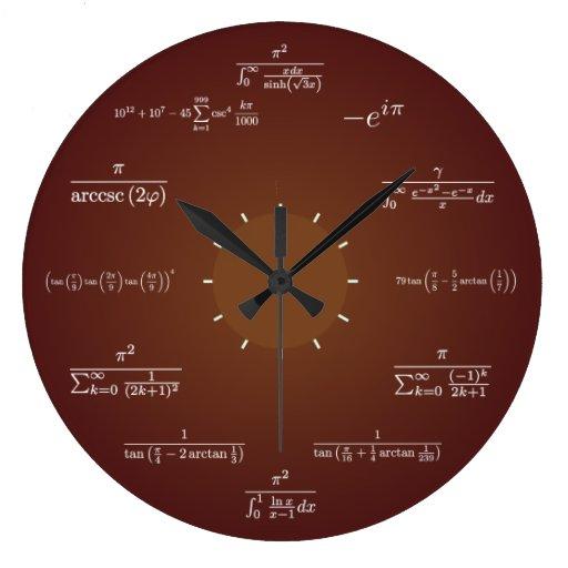 Math Clock Zazzle