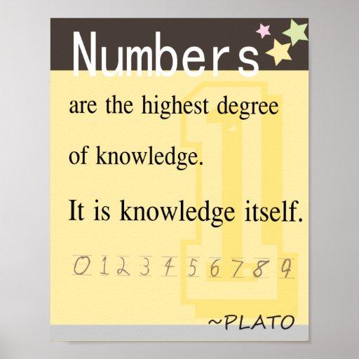 Plato Quote: Math Quote By Plato Poster