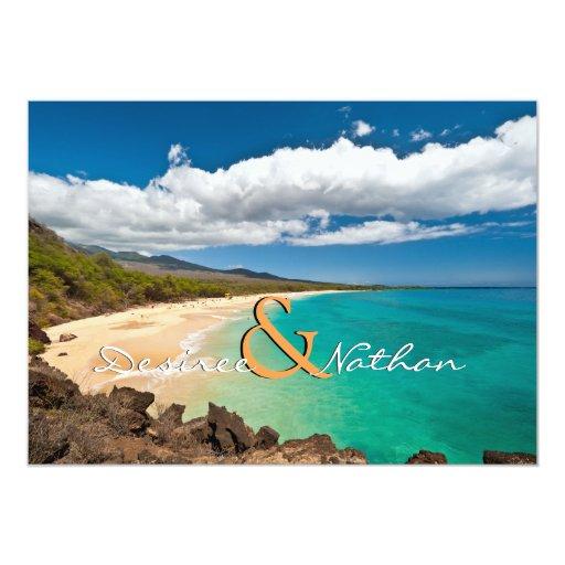Wedding Invitations Hawaii: Maui, Hawaii - Destination Wedding Invitation
