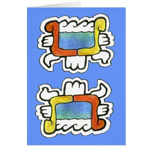Mayan Water Symbol v.1 Greeting Card | Zazzle