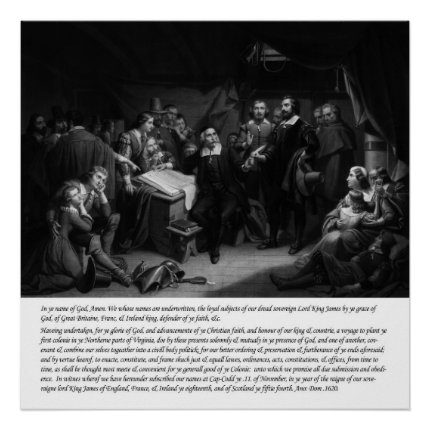 Mayflower - Signing of the Compact poster print print