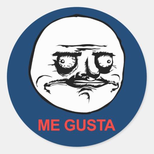 Me Gusta Face Meme Classic Round Sticker   Zazzle