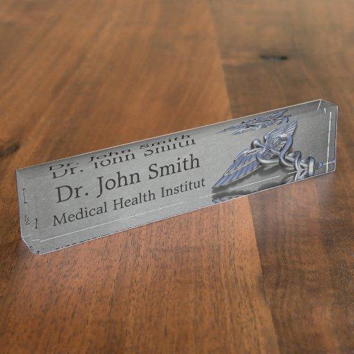 Medical Caduceus Symbol Desk Nameplate Zazzle