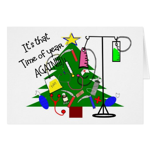 Medical Christmas Tree: Medical Christmas Tree Gifts--Funny Greeting Cards