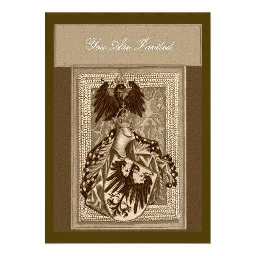 "Medieval Wedding Invitations: Medieval Crest Wedding Invitations 5"" X 7"" Invitation Card"