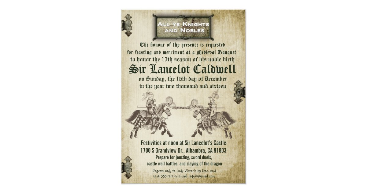 Medieval Wedding Invitation Wording: Medieval Renaissance Birthday Wedding Invitation