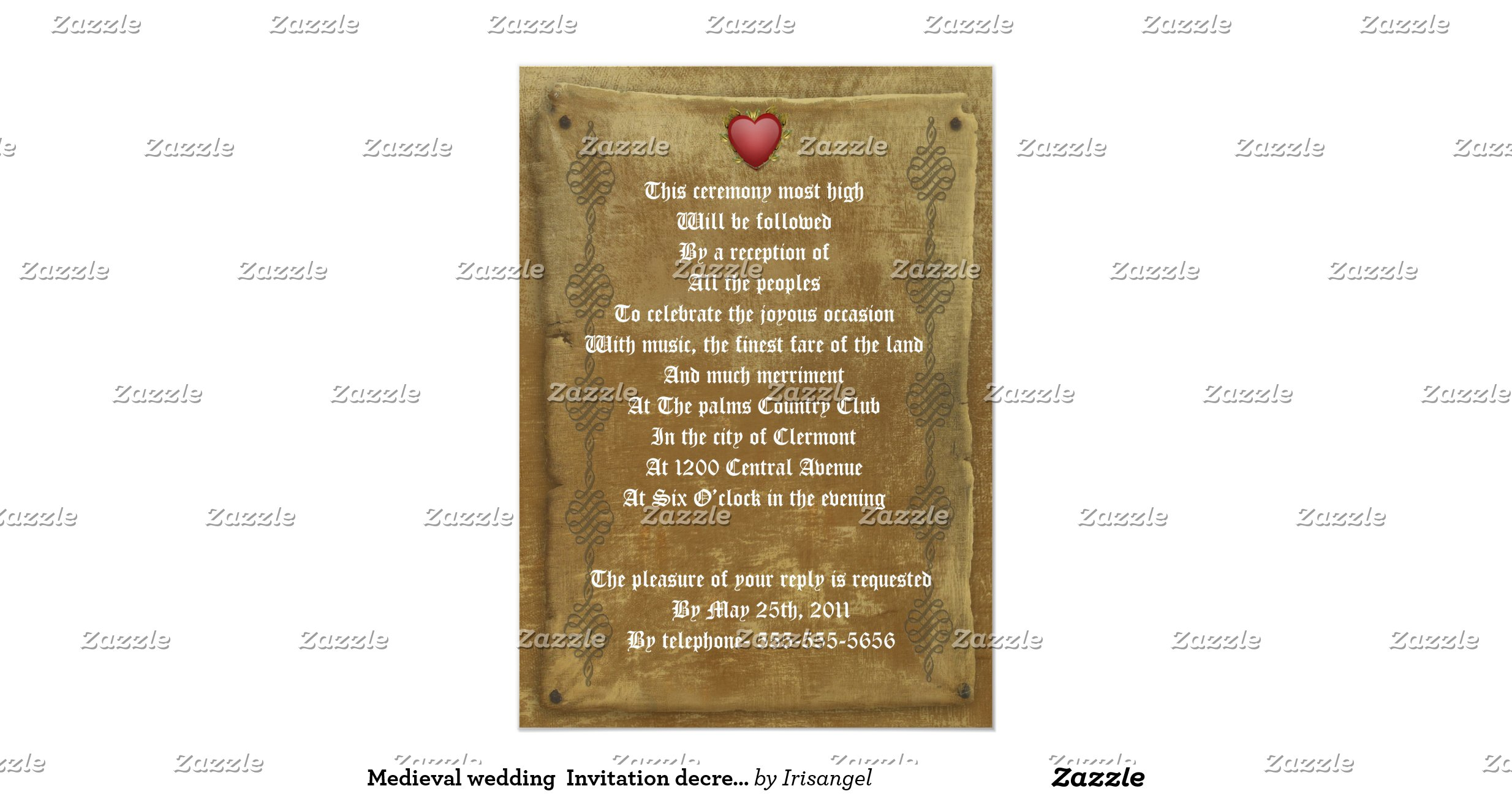 Medieval Wedding Invitation Wording: Medieval_wedding_invitation_decree_template