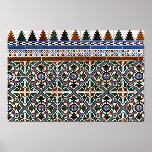 Mediterranean Tile Poster/Print