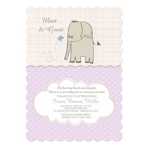 free meet the baby invitations