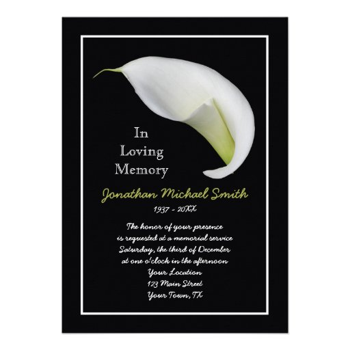 Funeral planning elegant memorials party invitations ideas for Funeral remembrance cards template