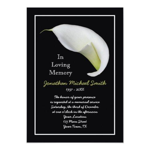 memorial service invitation announcement template zazzle