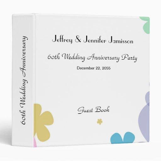 First Wedding Anniversary Celebration Ideas: Memory/Guest Book, 60th Wedding Anniversary Party Binder
