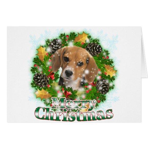 Merry Christmas Beagle Card