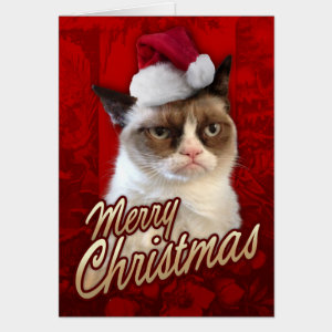 Grumpy Cat Christmas.Grumpy Cat Merry Christmas Greeting Card By The Grumpy Cat