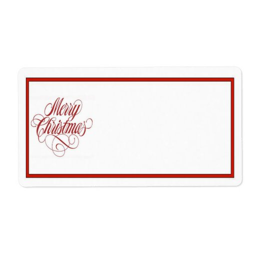 package address label template - merry christmas mailing label shipping label zazzle