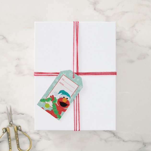 Merry Christmas Scribble Elmo Pack Of Gift Tags