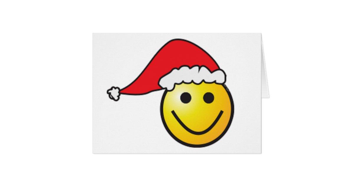 """""""MERRY CHRISTMAS"""" SMILEY FACE SANTA CARD"""