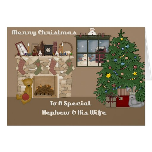 Merry Christmas To A Special Nephew & Wife Card
