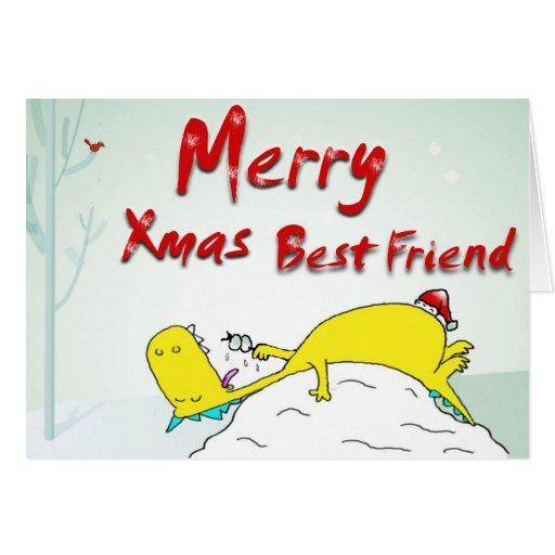 merry xmas best friend greeting card  zazzle