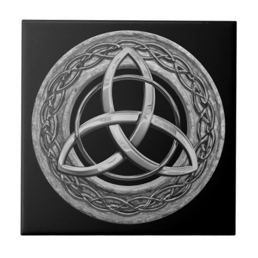 Metal Celtic Trinity Knot Ceramic Tile Zazzle