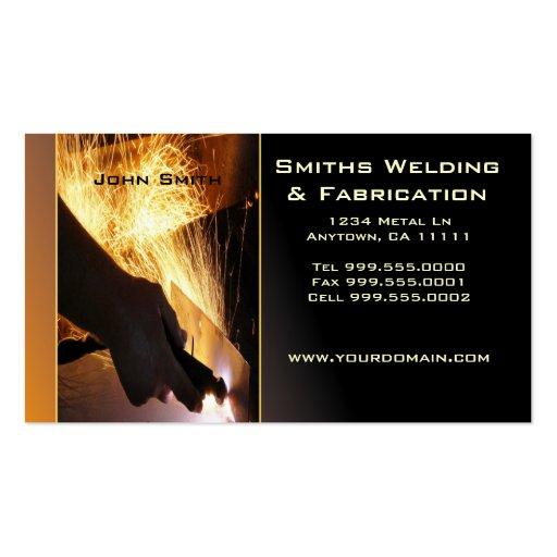 Fab Template: Welding Business Card Templates