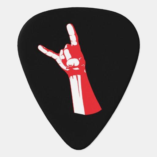 metal horn guitar pick zazzle. Black Bedroom Furniture Sets. Home Design Ideas