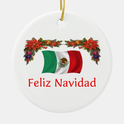 Mexico Christmas Ceramic Ornament | Zazzle