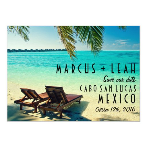 Save The Date Destination Wedding Invitations: Mexico Destination Wedding Save The Date Card