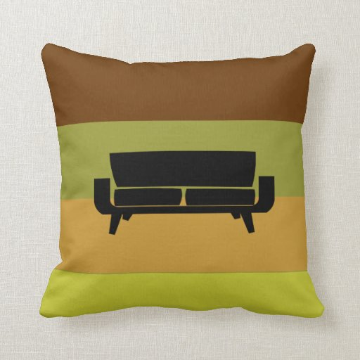 Sofa Pillows Contemporary: Mid-Century Modern Pillow Sectional Sofa