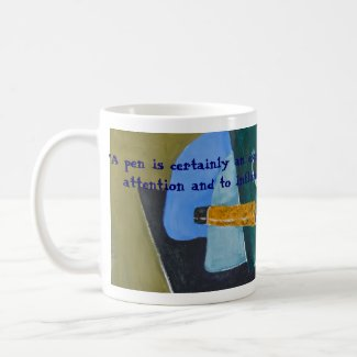 Mightier Than The Sword mug