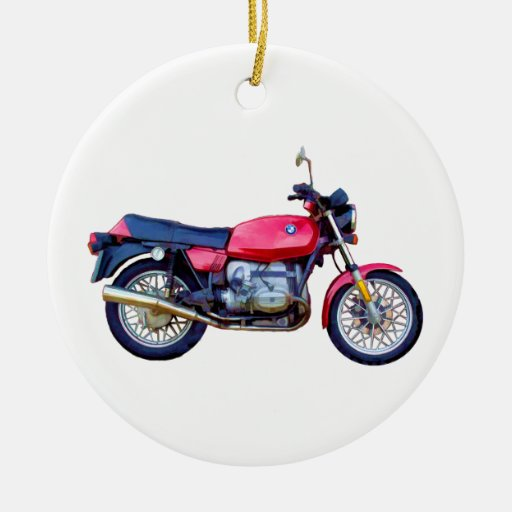 Mike Garrett Motorcycle Double-Sided Ceramic Round ...