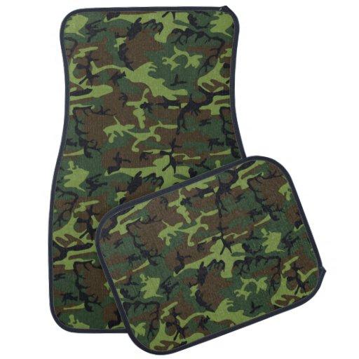 Military Green Camo Car Floor Mat
