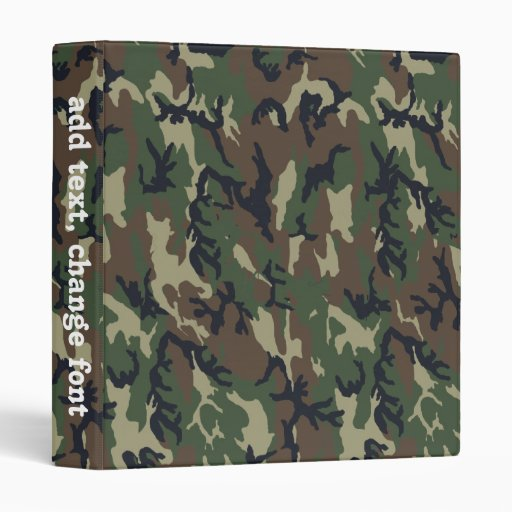 Military Green Camouflage Pattern Binder