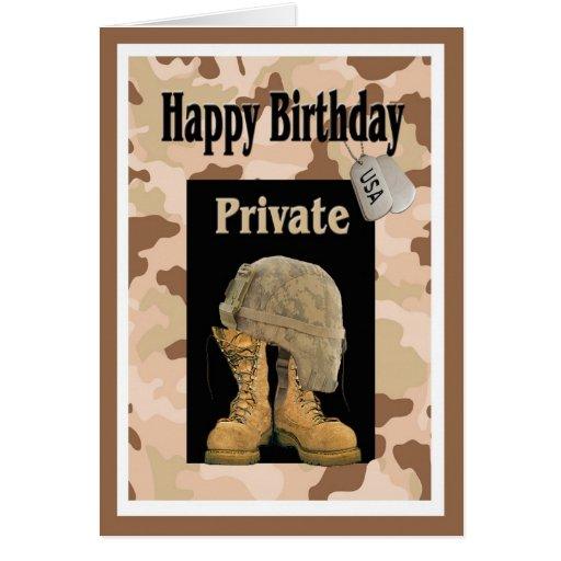 Military Happy Birthday Card