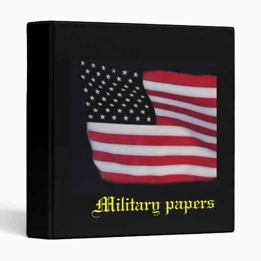 Military Papers Binder