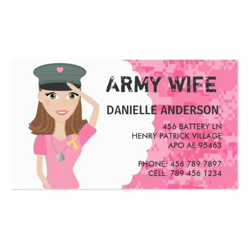 Military calling cards