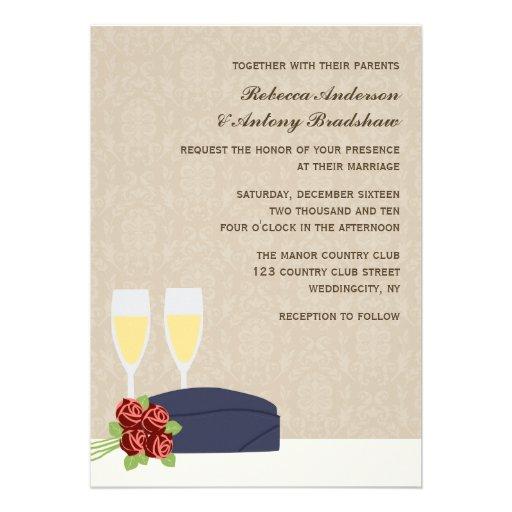 """Www Zazzle Com Wedding Invitations: Military Wedding Invitations 5"""" X 7"""" Invitation Card"""