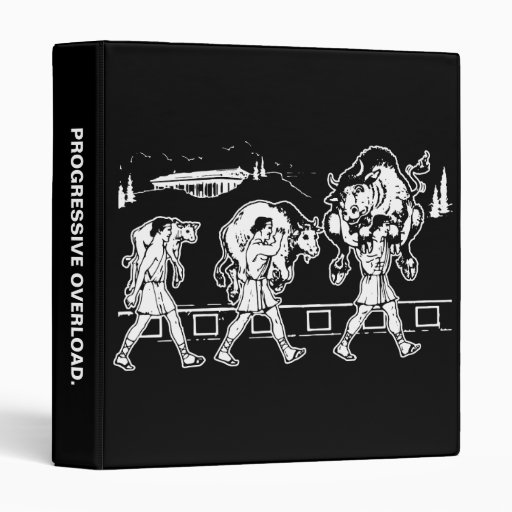 Milo Of Croton And The Bull - Gym Motivational Binder