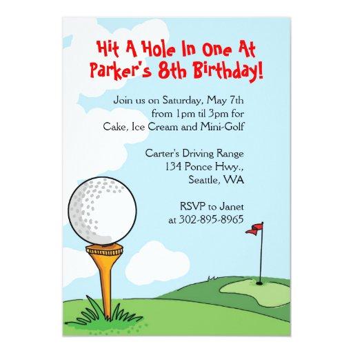 Mini Golf Themed Birthday Party Invitations Zazzle