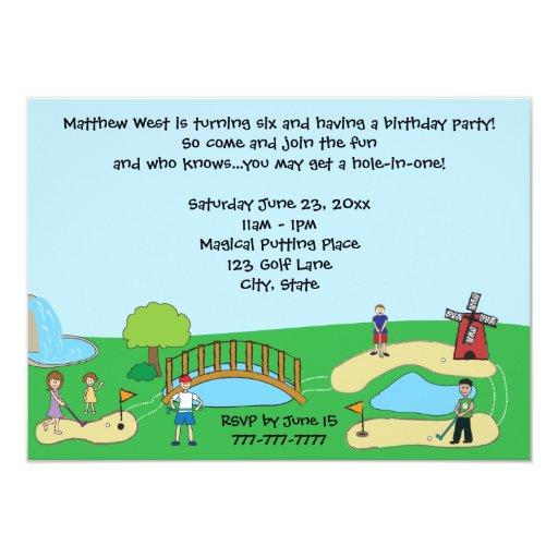 Mini Miniature Golf Birthday Party Invitations Zazzle
