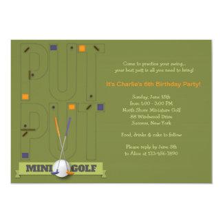 kids golf invitations announcements zazzle. Black Bedroom Furniture Sets. Home Design Ideas