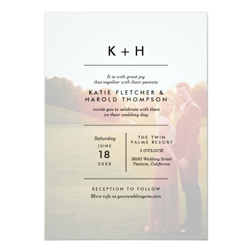 Gallery Minimalist Wedding Invitations: Minimalist Photo Wedding Card