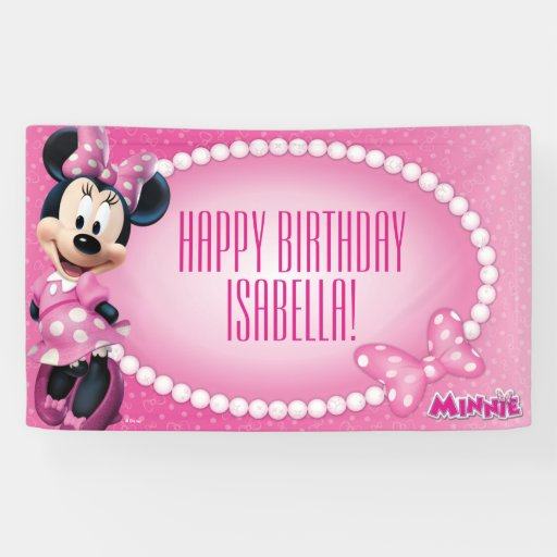 Minnie Mouse Birthday Banner
