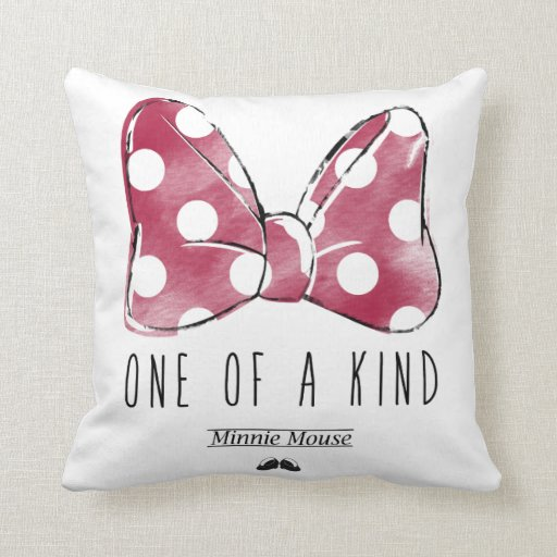 minnie mouse one of a kind pillow zazzle. Black Bedroom Furniture Sets. Home Design Ideas