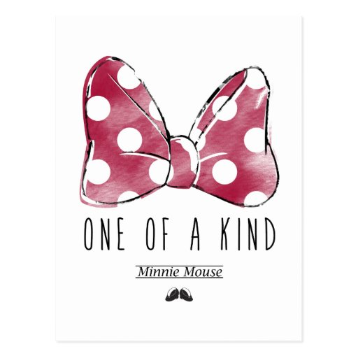 minnie mouse one of a kind postcard zazzle. Black Bedroom Furniture Sets. Home Design Ideas