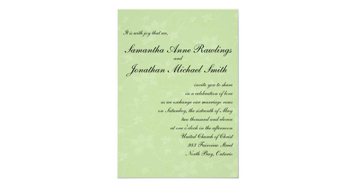 Mint Green & Chocolate Brown Wedding Invitation